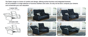 Himolla Opera 2.5 Recliner Sofa with Integrated Footrest - Affordable Modern Furniture at By Design
