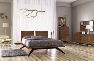 Astrid Bed With Two Adjustable Headboards by Copeland Furniture (In-stock colors) - Affordable Modern Furniture at By Design