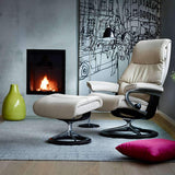 Stressless View Chair with Signature Base by Ekornes - Small + colors