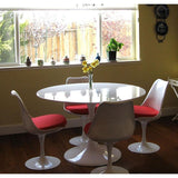 "Zilla Kitchen Dining Table 36"" Round Fiberglass Top + bydesigntexas.com"