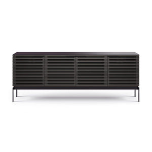 BDi Corridor® SV 7129 - Quad Media Console - Charcoal Stained Ash - Affordable Modern Furniture at By Design
