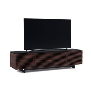 BDi Corridor® 8173 - Quad Width Low Media Console - Chocolate Stained Walnut - Affordable Modern Furniture at By Design