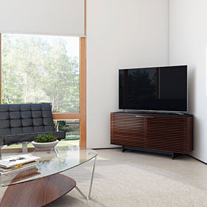 BDi Corridor® 8175 - Corner Media Cabinet - Chocolate Stained Walnut - Affordable Modern Furniture at By Design