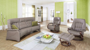 Rhine Curved Recliner Sofa with Integrated Footrest + bydesigntexas.com