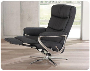 Arctica Recliner Chair with Integrated Footrest by Himolla + bydesigntexas.com