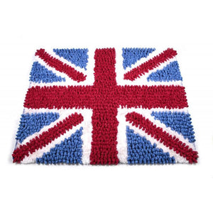 Union Jack - Pebble Rug with Shag 5x7 - ByDesignTexas.com