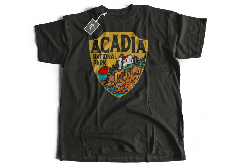 Acadia National Park Maine Lighthouse Design  Short-Sleeve Unisex T-Shirt