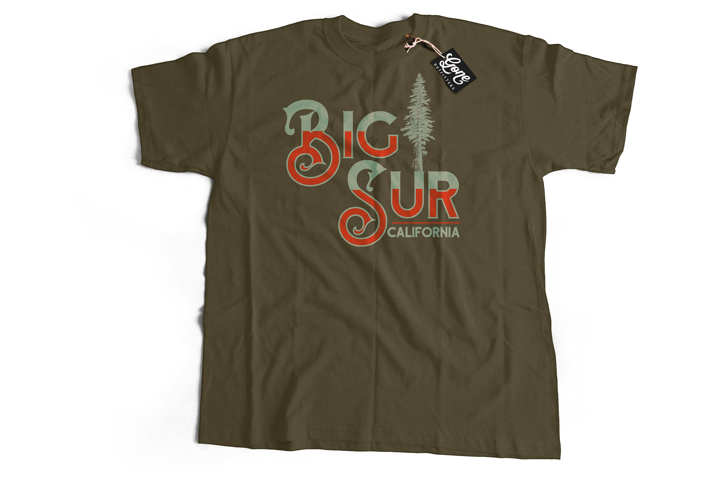 Big Sur Lone Pine Tree California Short-Sleeve Unisex T-Shirt