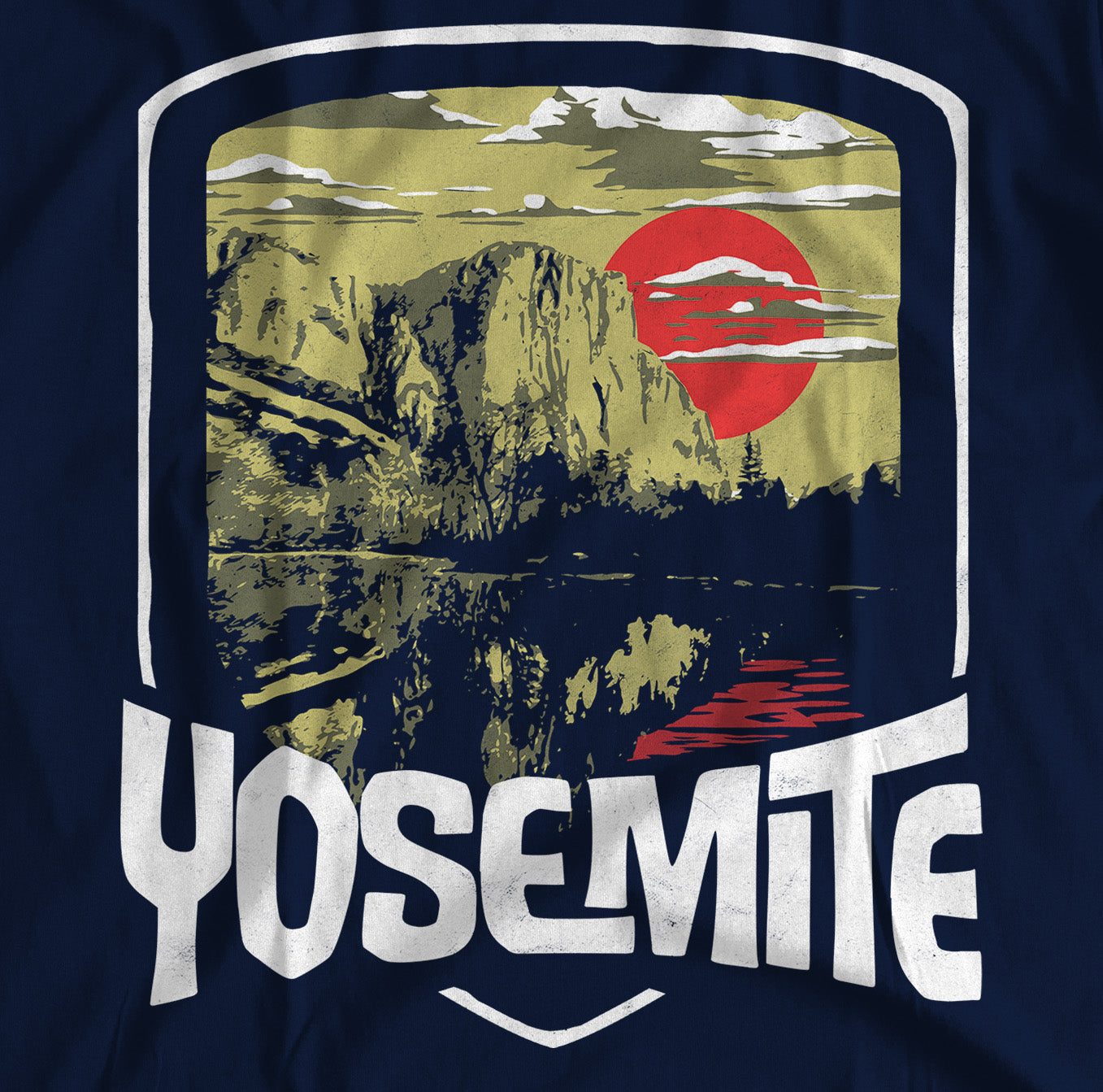 Yosemite National Park El Capitan Short-Sleeve Unisex T-Shirt - Navy