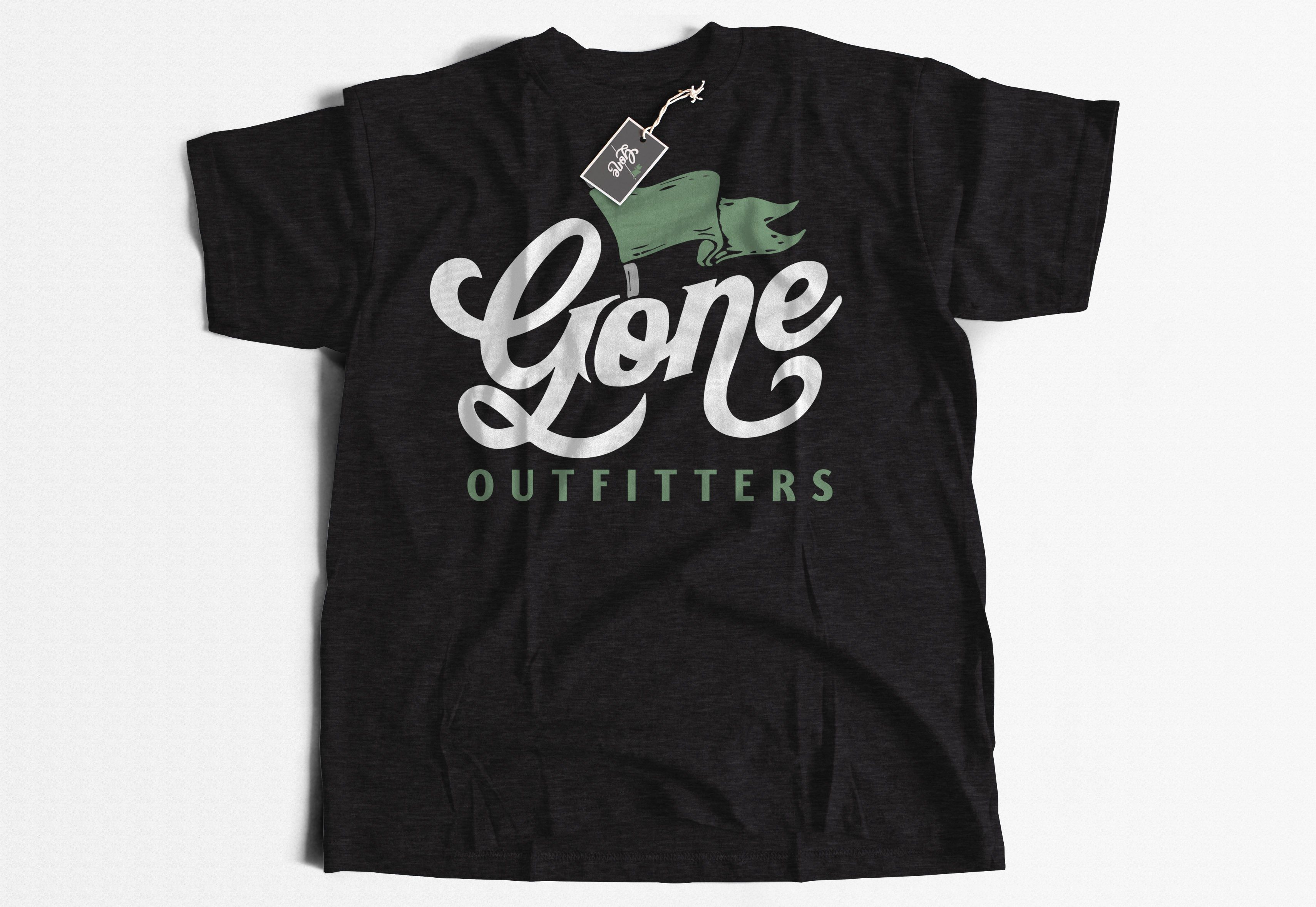Gone Outfitters Logo Design Short-Sleeve Unisex T-Shirt