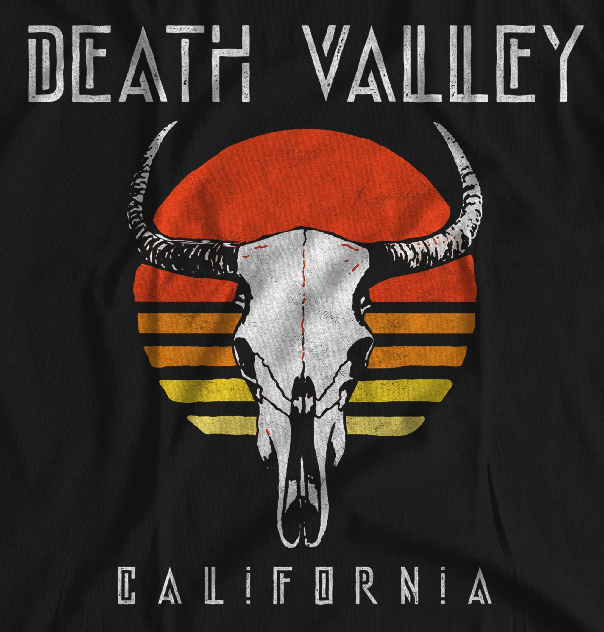 Death Valley National Park Cattle Skull Black Unisex T-Shirt