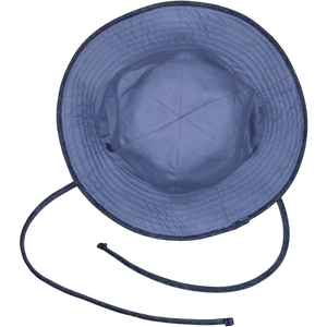 Reversible Sunhat - Linen-Canvas & Navy Gingham