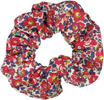 Liberty Red floral Scrunchie - Large