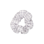 Silver gingham Scrunchie - Large