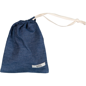 Small draw cord Bag silver Chambray