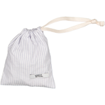Small Draw cord Bag Silver yarn dye Stripe