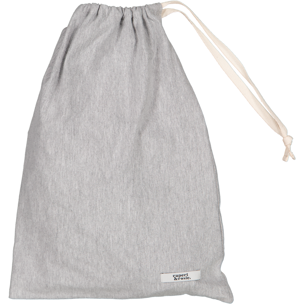 Large Draw Cord Bag grey melange