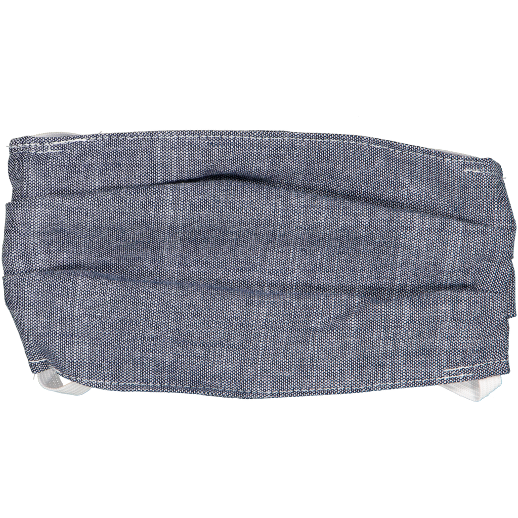 Adults Face Mask - Indigo Cotton Slub