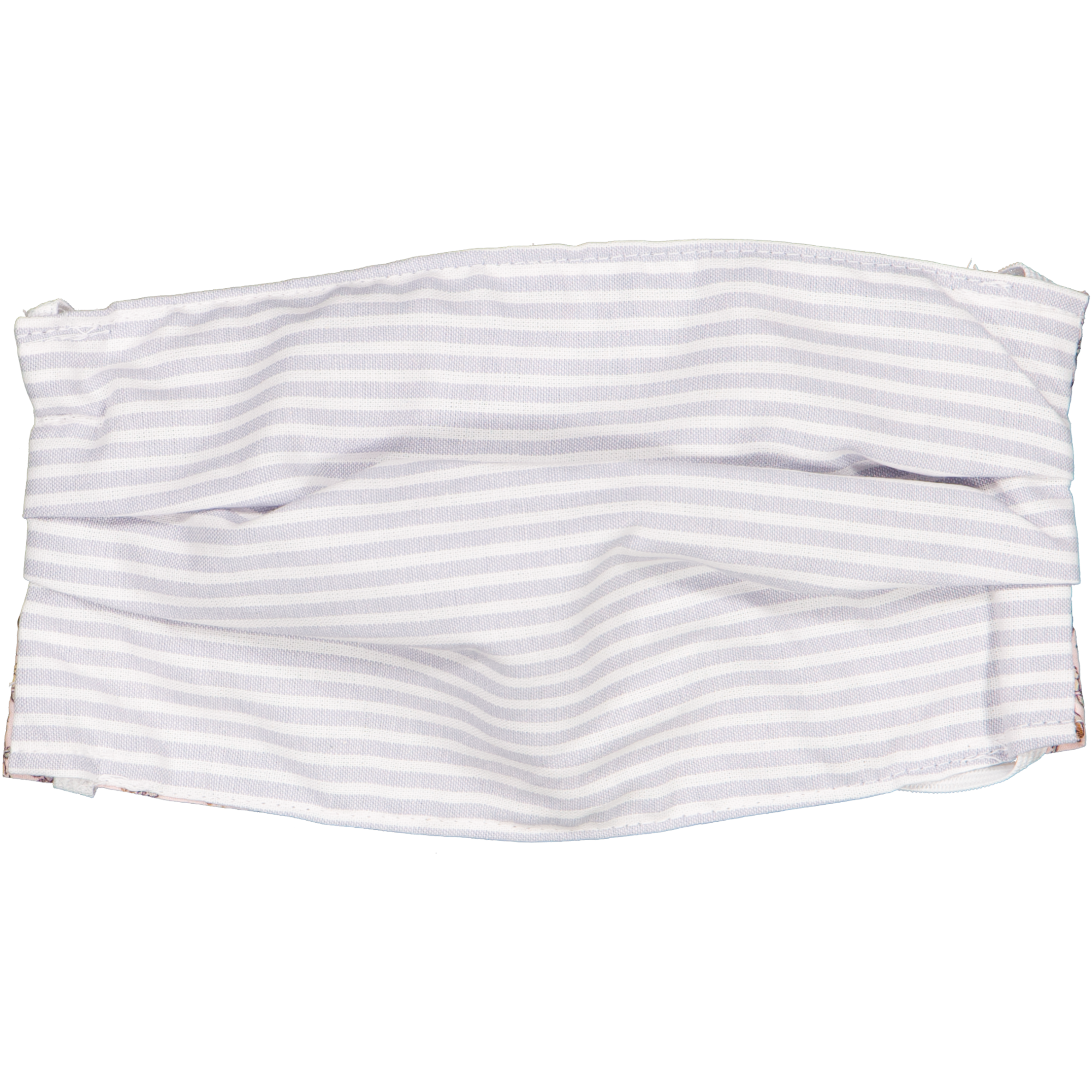 Kids Face Mask - Summer Mulberry with Silver Stripe