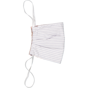 Adults Face Mask - Summer Mulberry  with Silver Stripe
