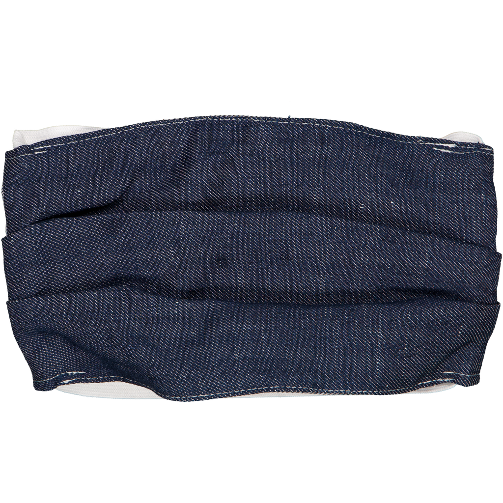 Linen Raw Denim - Adult Face Mask
