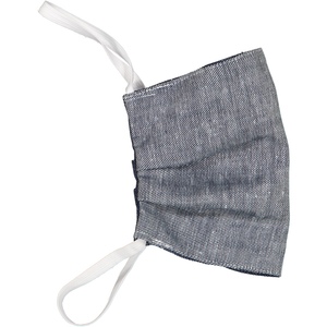 Indigo Cotton Slub- Adults Face Mask