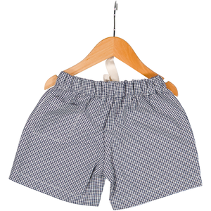 Gingham Shorts - Micro-Navy