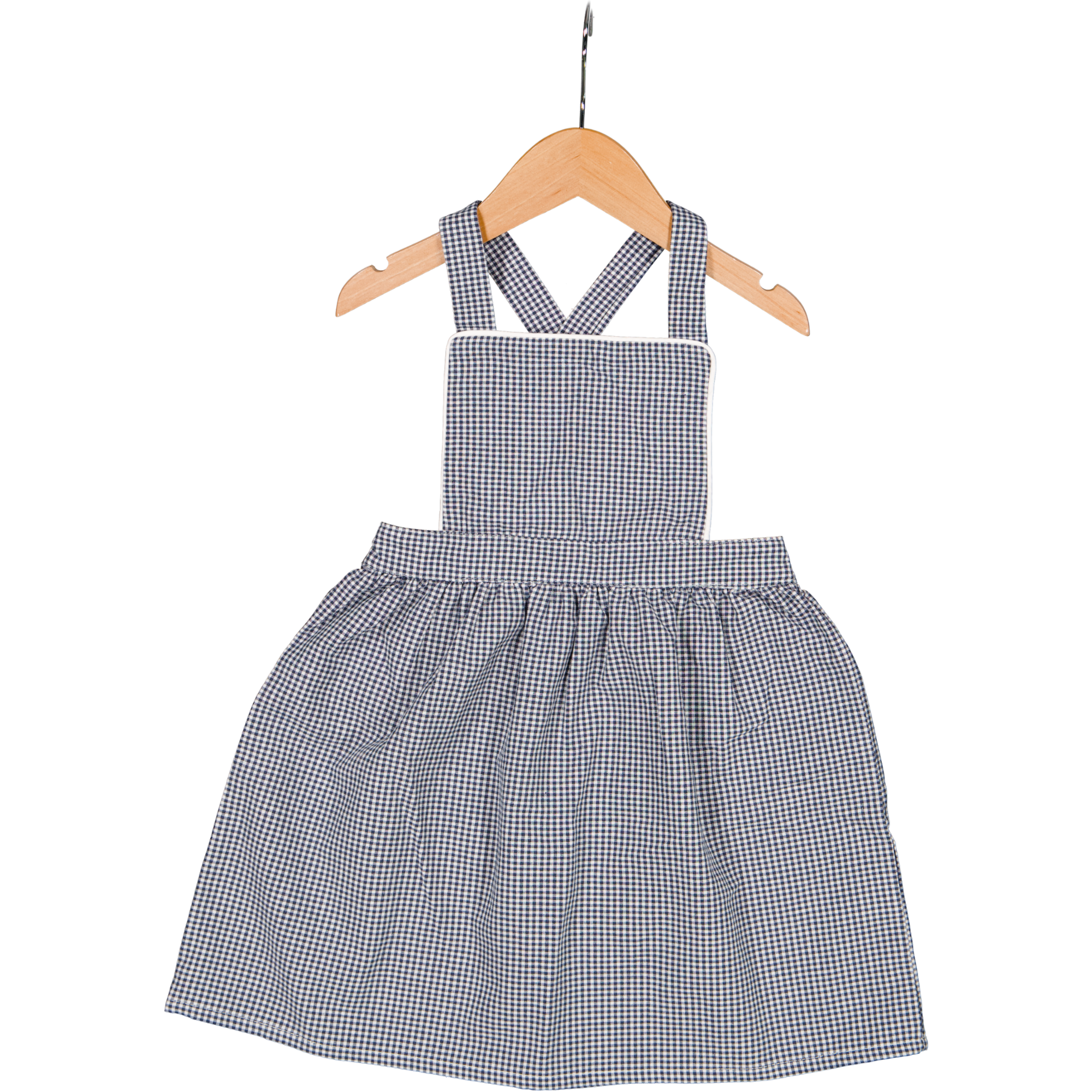 Tunic Dress  Navy Micro-Gingham