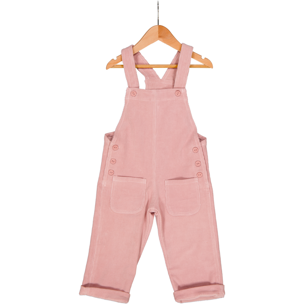 Corduroy Dungaree - Pure Cotton Blush Pink