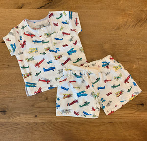 Boys Aeroplane Pyjamas Set