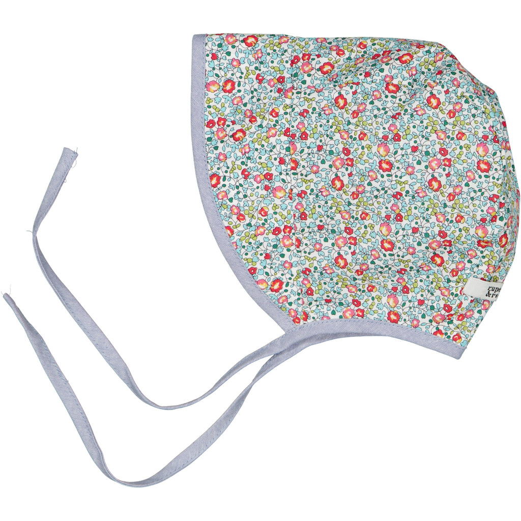 Liberty reversible summer bonnet - new ditsy