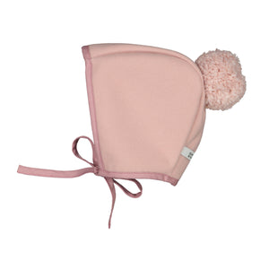 Winter Bonnet Blush With Blush Pom