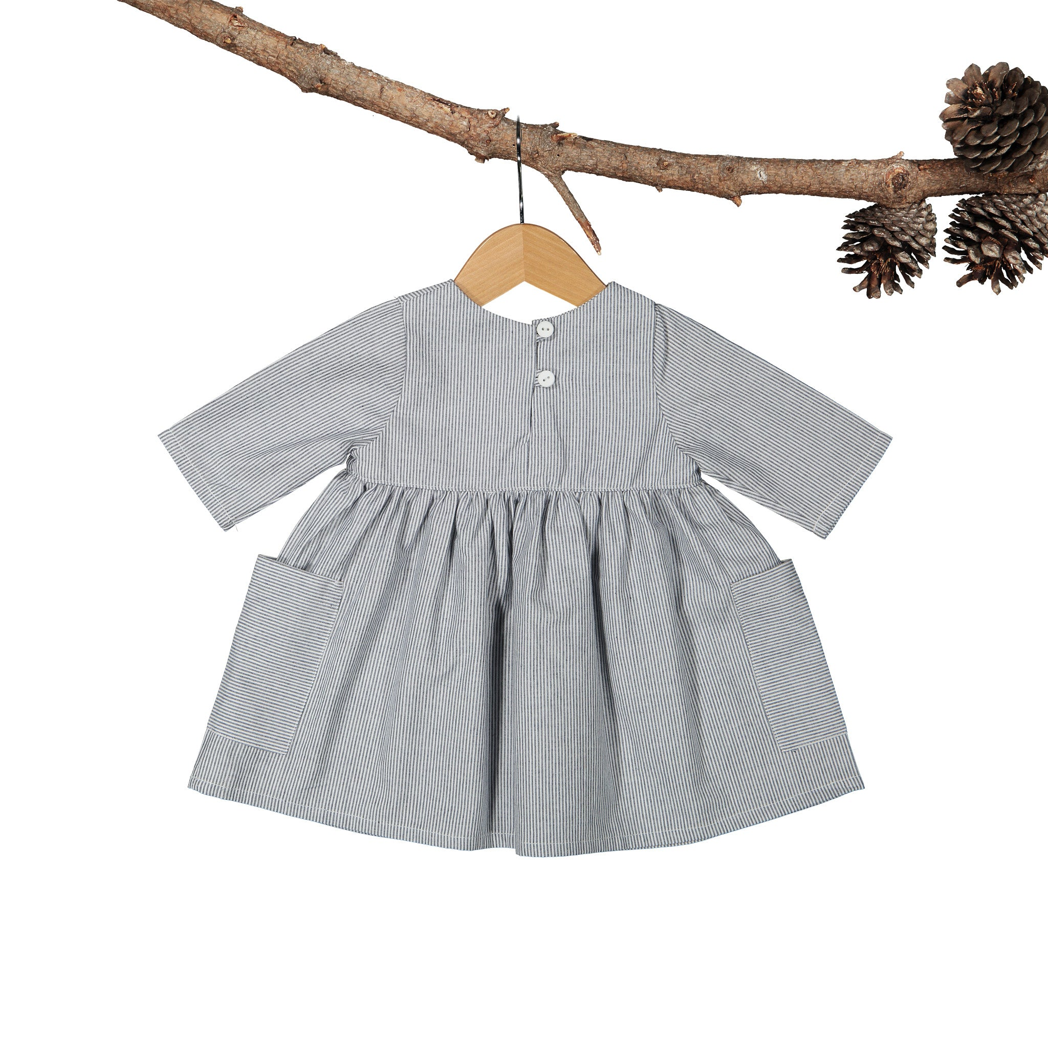 Winter Bonnie Yarn Dye Stripe Blue Dress