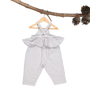 Maizey Romper - Silver Gingham