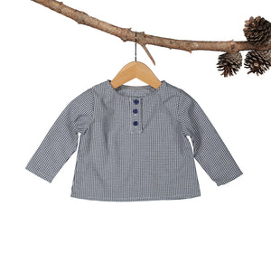 Charlie Navy Gingham Long Sleeve Shirt