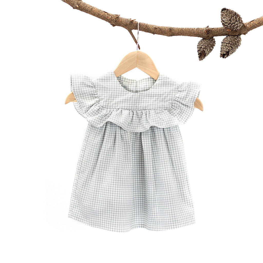Layer Me Harriet Dress Sage Gingham