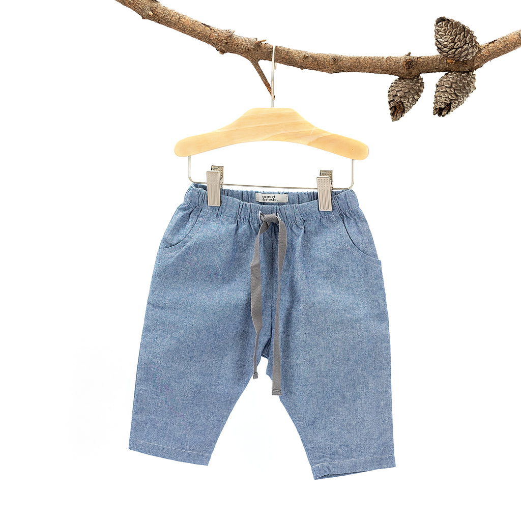 Archie Pants - Dark Chambray