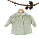 Liberty Bloom Blouse Green Flower