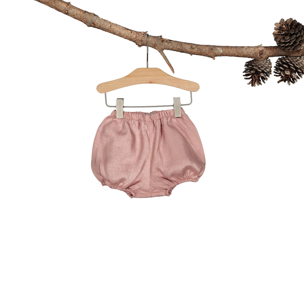 Rose Blush Linen Shorts Heirloom
