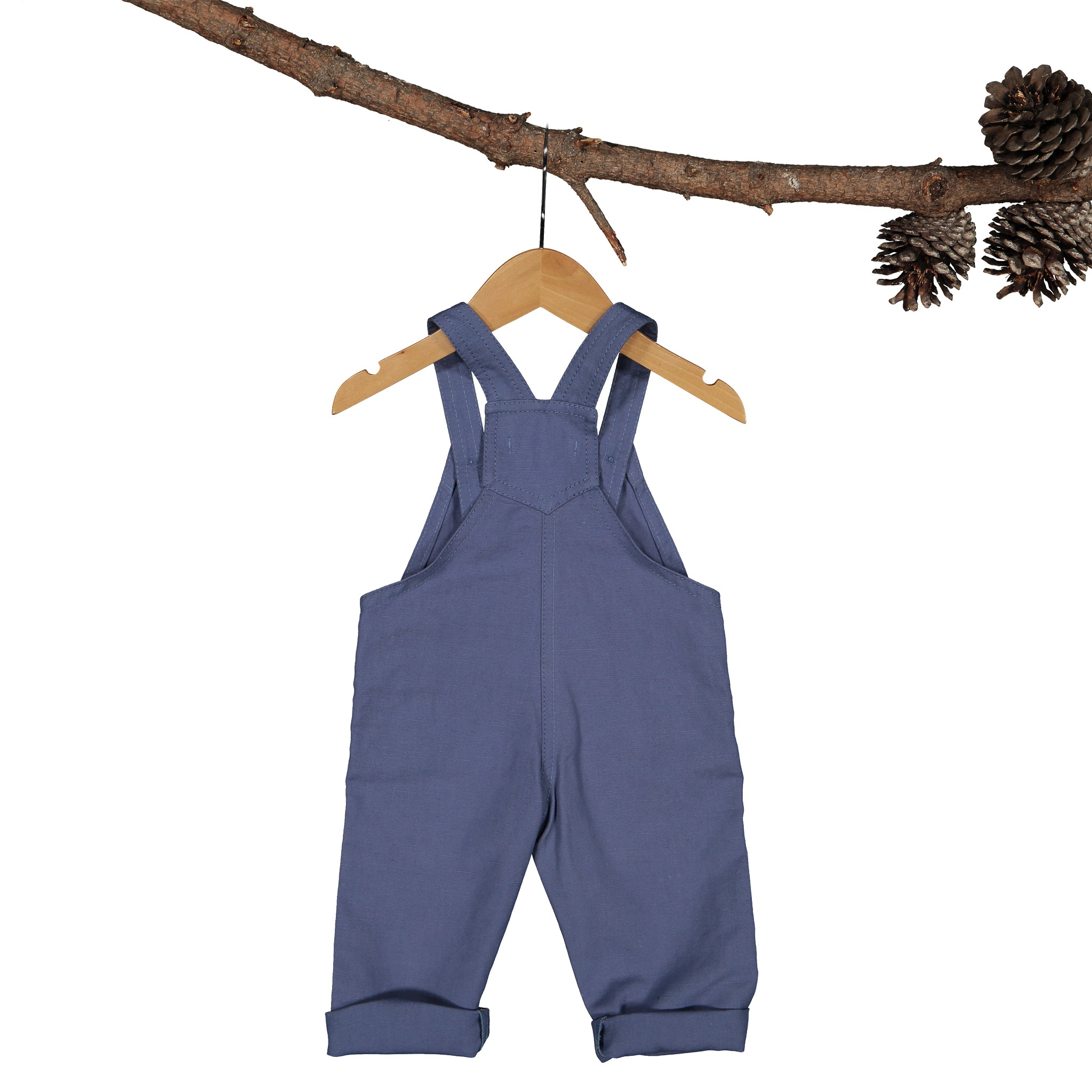Dungaree - Rupert Linen Canvas Air-Force Blue