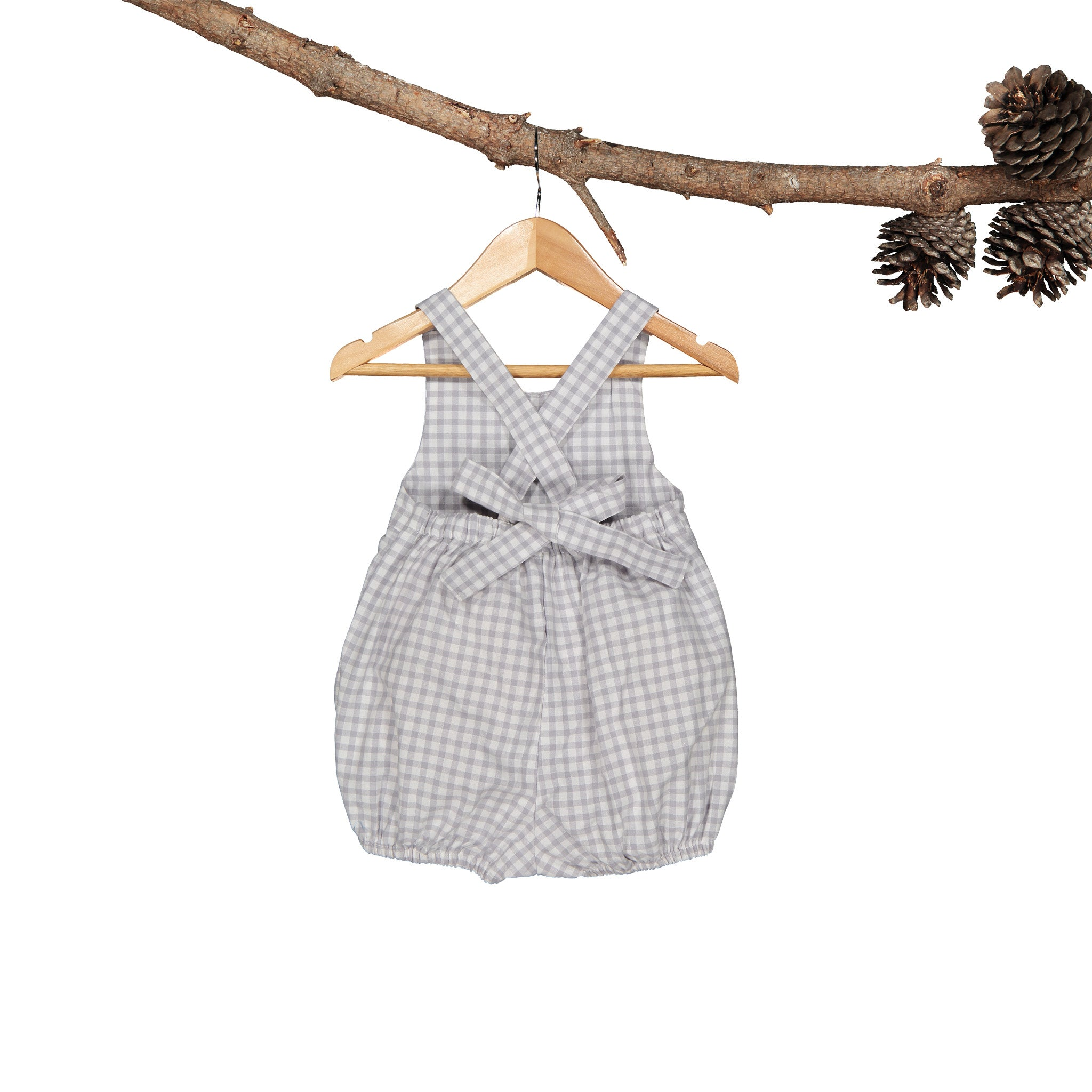 Sage Suit Silver Gingham