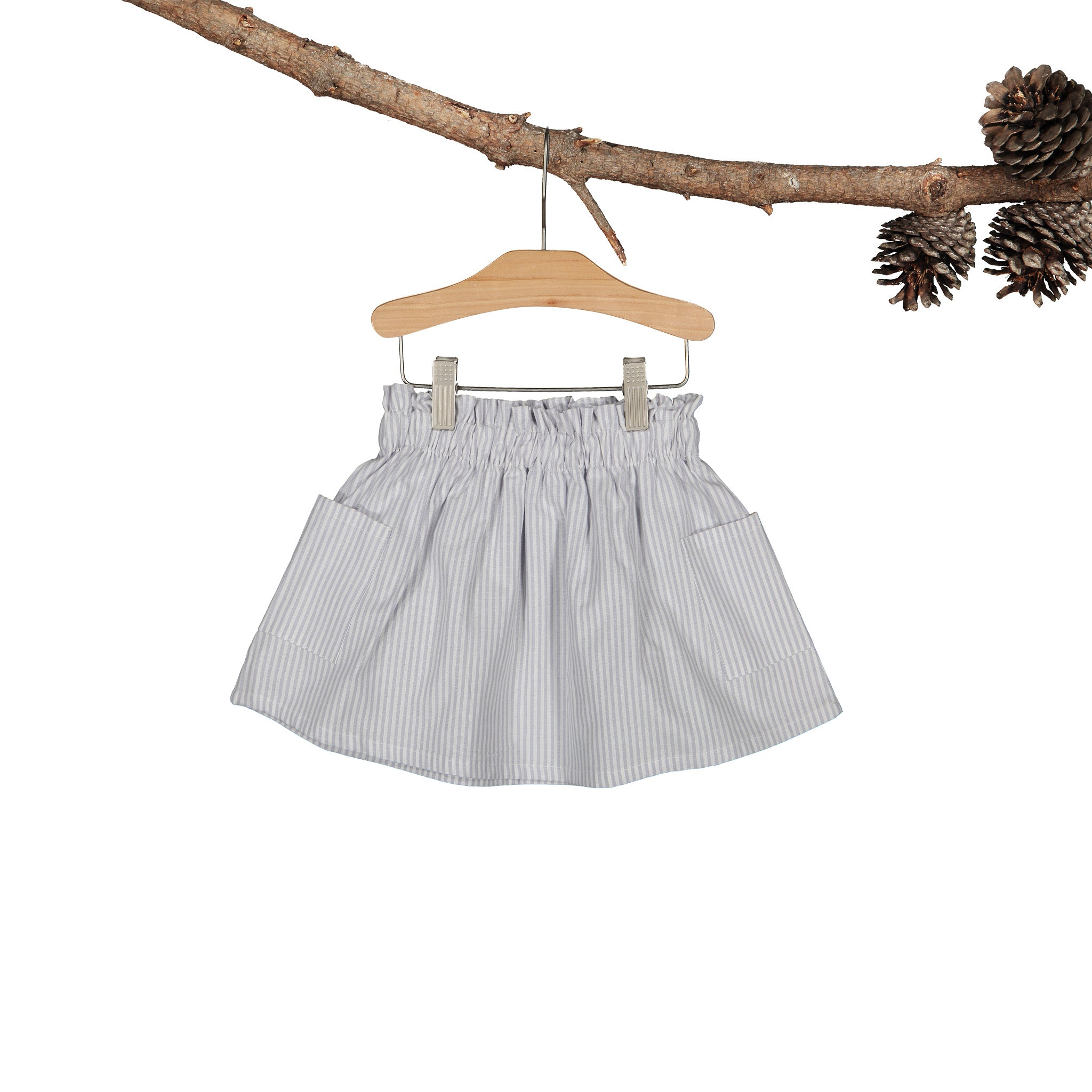 Silver Yarn Dye Stripe Flora Skirt