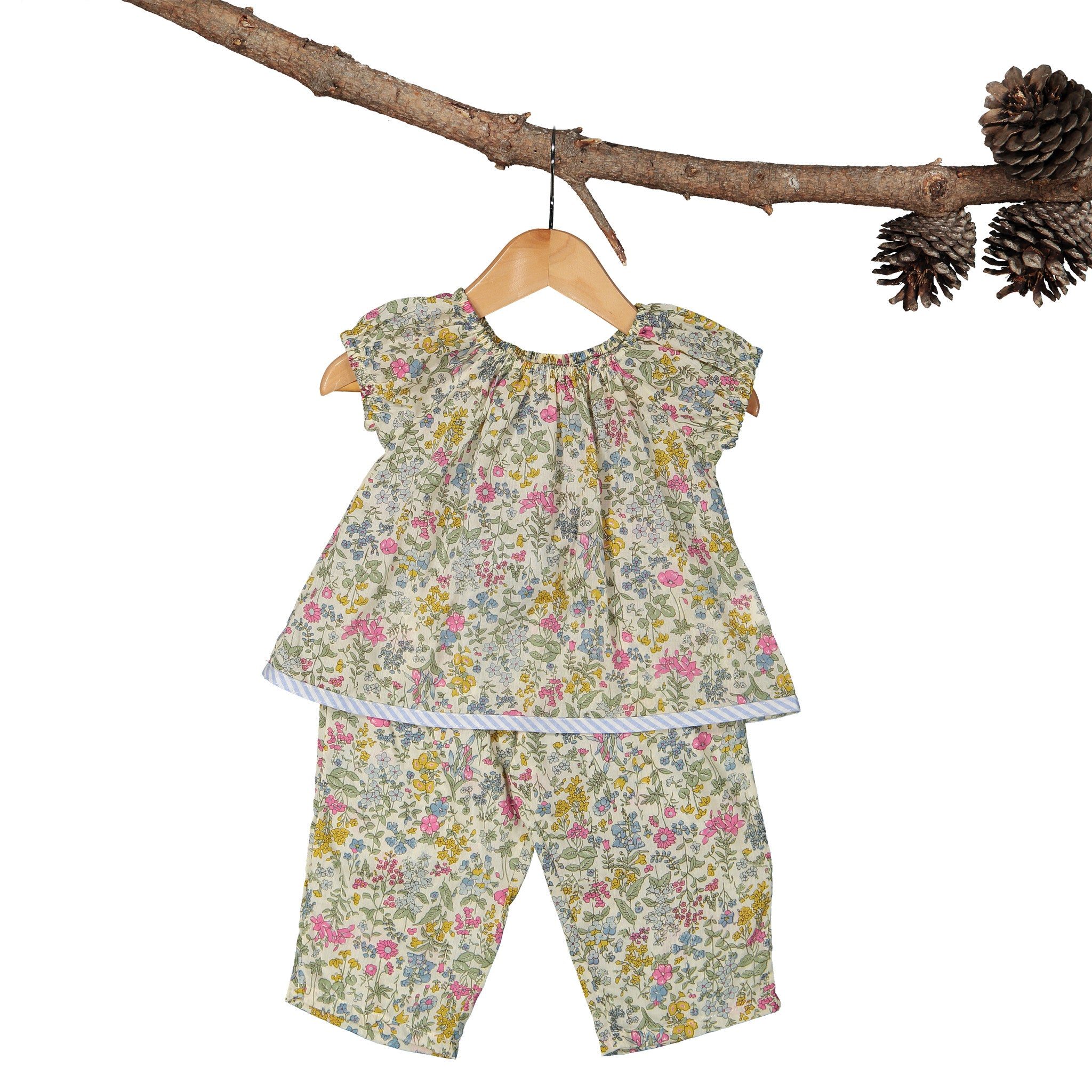 Botanical Print Girls Pyjama Set