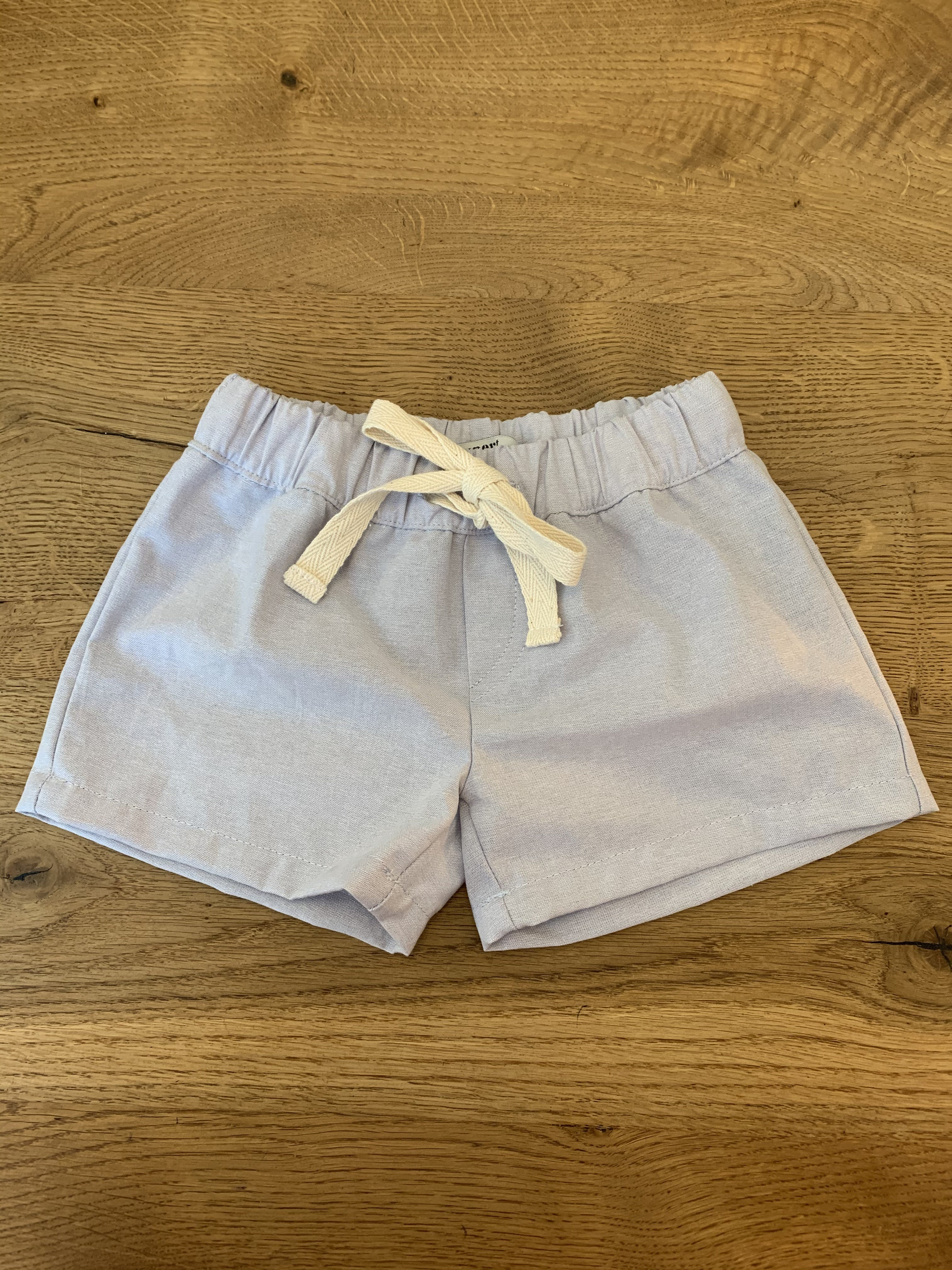 Silver Grey Chambray - Summer Shorts