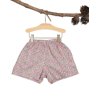 Pink Betsy Ann Heirloom flare shorts