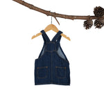 Linen-Denim Bluebell Pinafore
