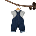 Rupert Linen-Denim Dungaree