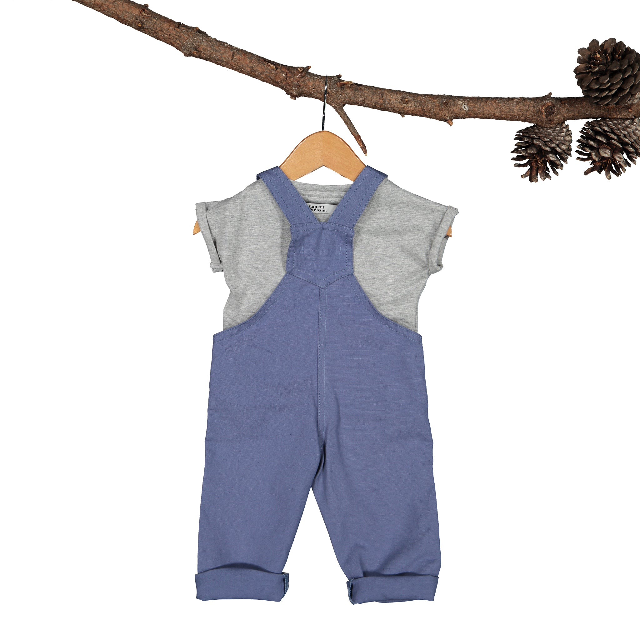 Rupert Linen-Canvas Air-Force Blue Dungaree