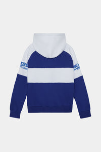 Royal Blue/White Retro-Futuristic Hoodie
