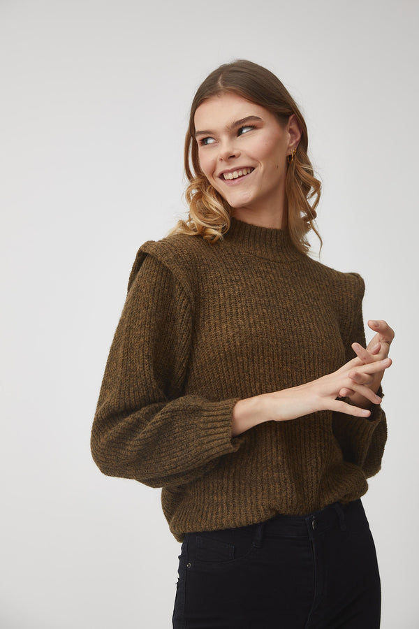 Aview Karlo pullover knit with shoulder details and crew neck